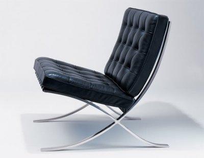 replica leather chair rohe black van voga designer barcelona der products mies semi aniline