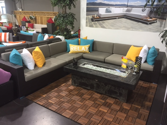 Bel Air large patio sectional sofa